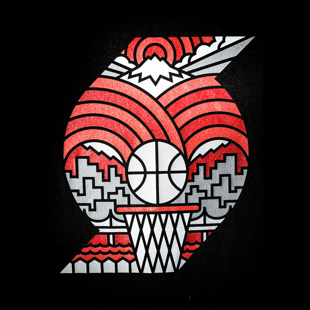 Official Trail Blazers Rebrand On Behance