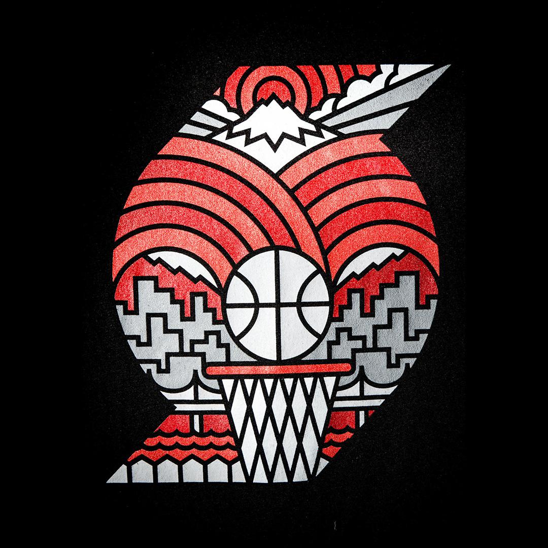 Portland Trail Blazers Art: Official Trail Blazers Rebrand On Behance