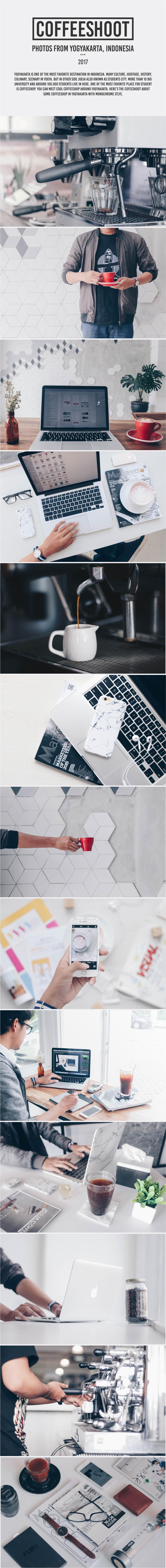 Photography  Coffee cafe coffeeshop monochrome indonesia yogyakarta flatlay jogja macbook