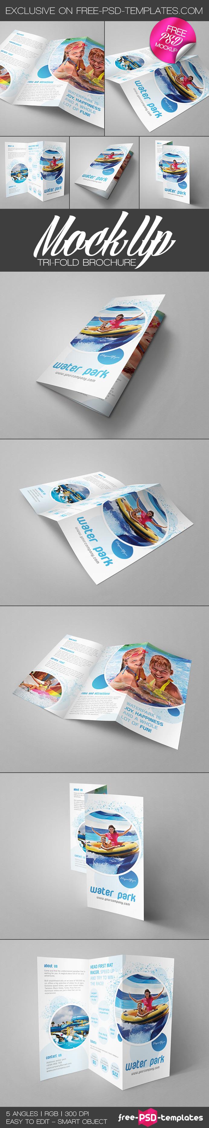5 Free Tri Fold Brochure Mockups On Behance