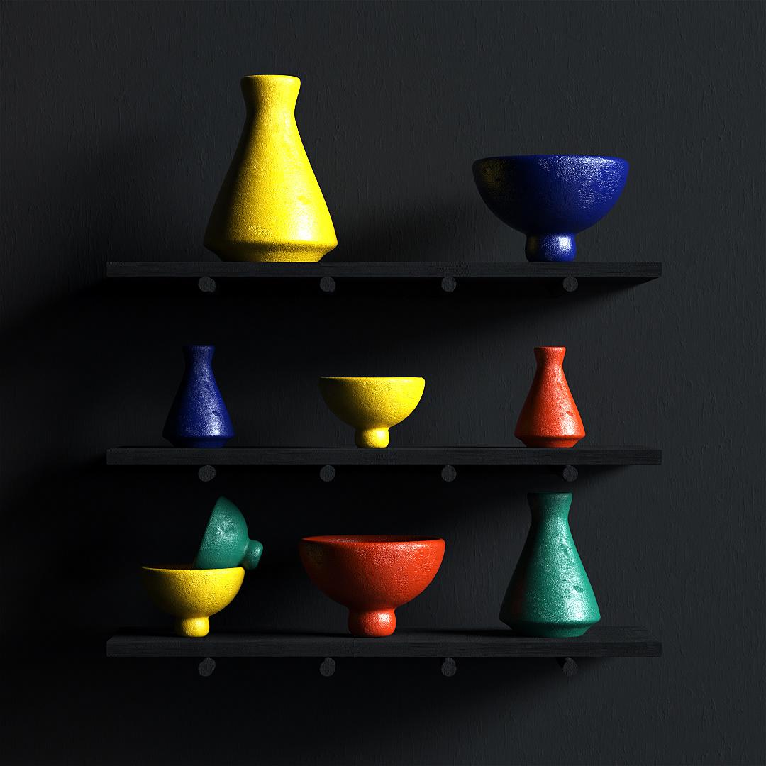 abstract CGI geometry setdesign 3D surreal 3dart stilllife Still stone