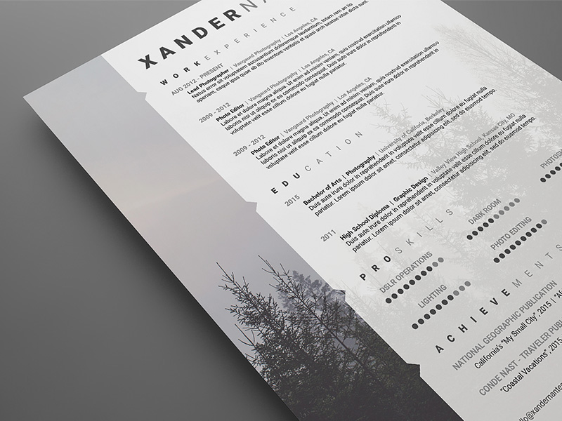 free swiss style resume template on behance