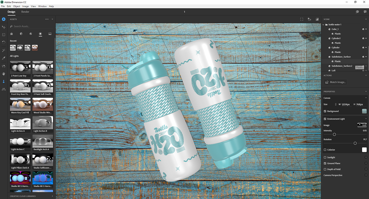 H2O Bottle For Adobe Dimension on Student Show
