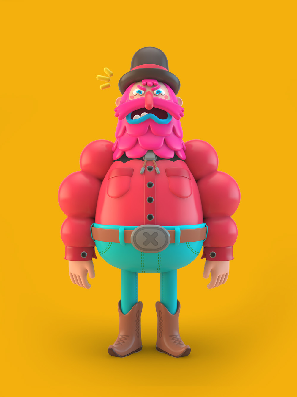 3d Character Design Behance : D illustrations — on behance