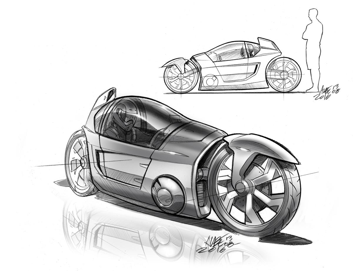 Basic design of a car - Basic 3d Styling Lines Adjustment For Detail Ideation