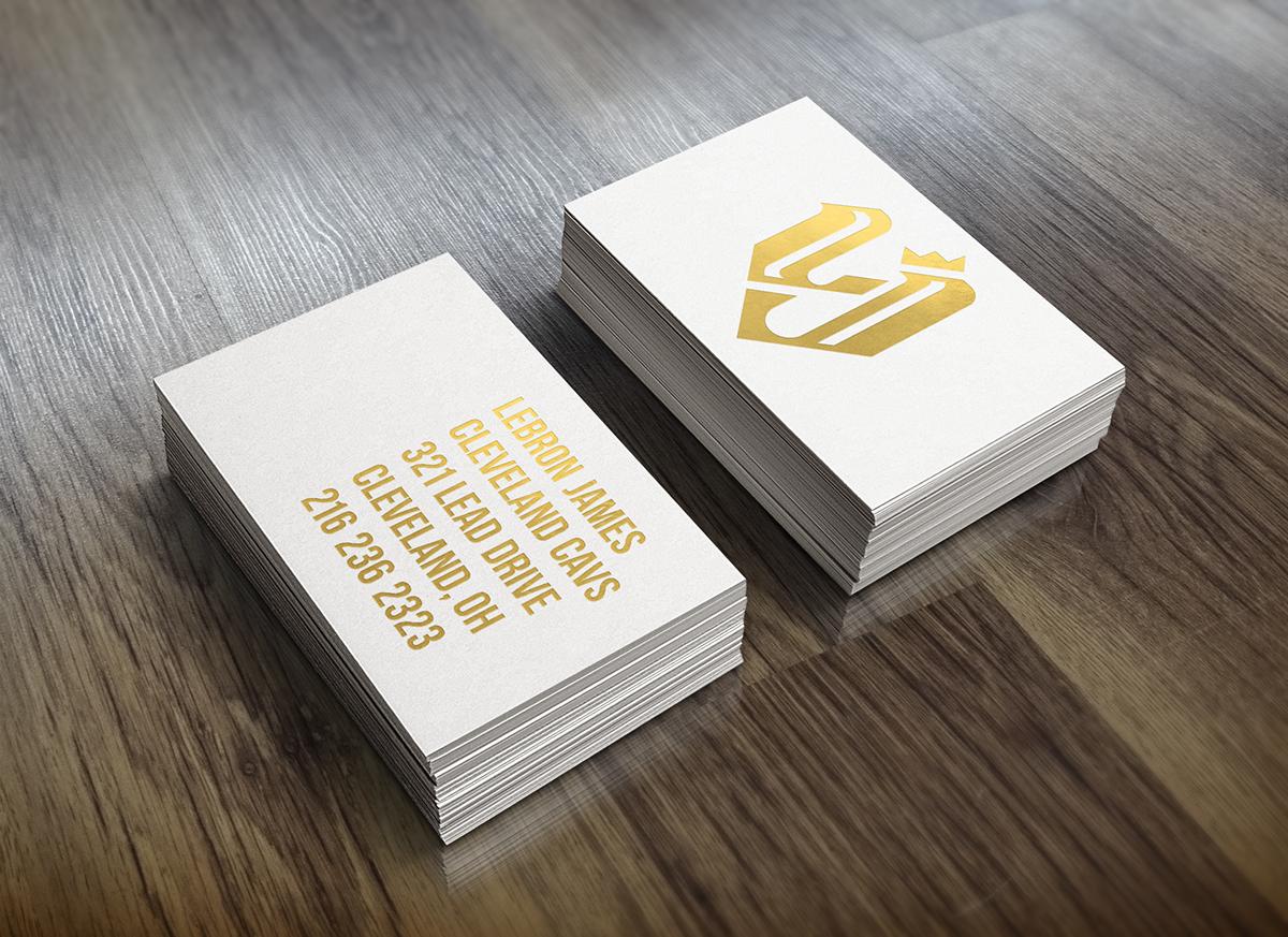 Lebron james monogram and business card on behance magicingreecefo Images