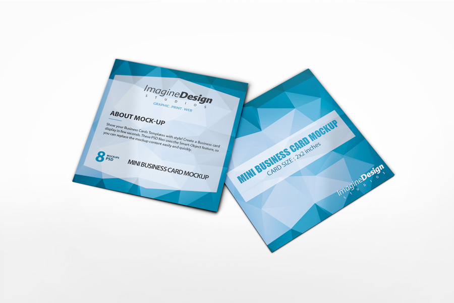 Mini Business Card Mockup on Behance