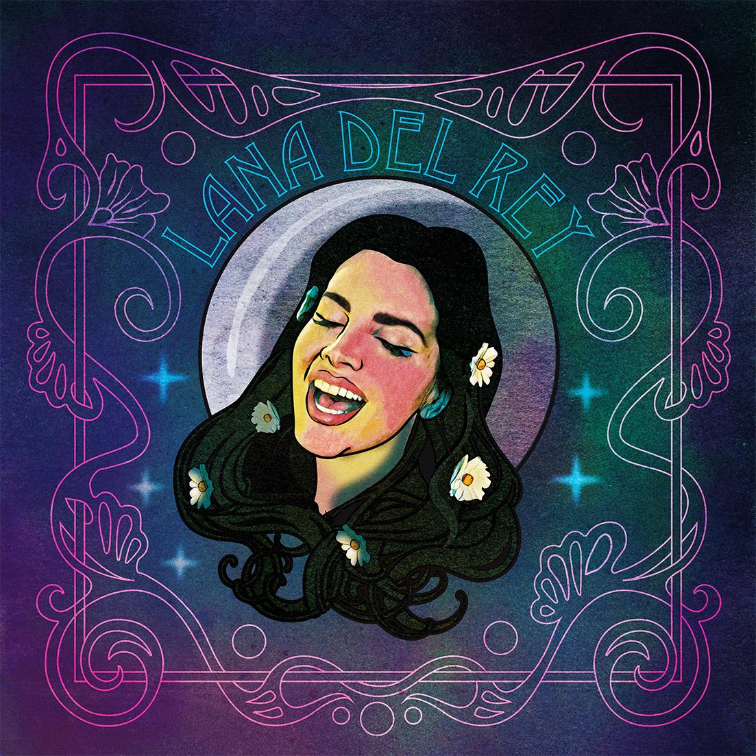 Lana Del Rey Art Nouveau Album On Behance