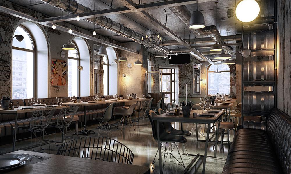 INDUSTRIAL CAFE DESIGN on Behance