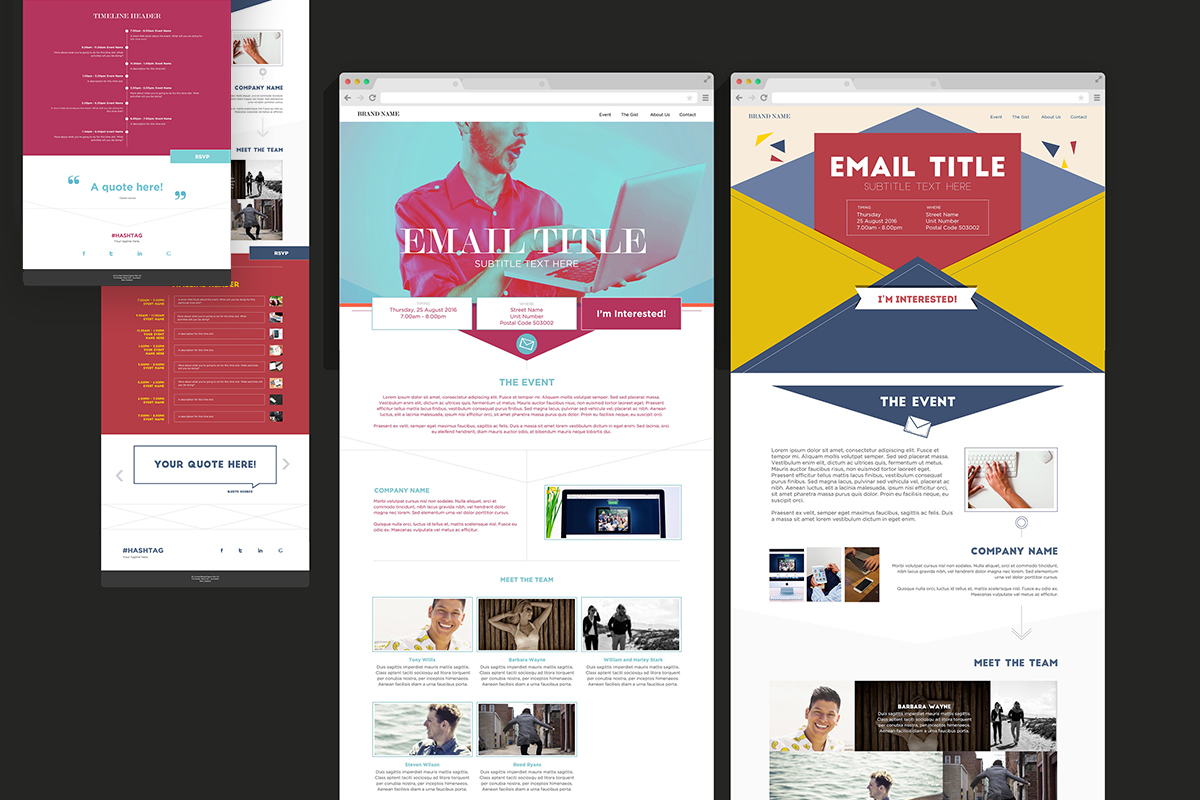 Splash Interview Test Website Templates On Behance - Splash website templates