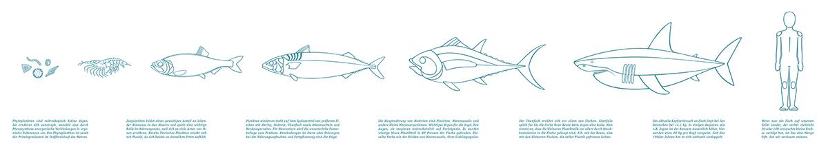 plasticocean environment Ocean plastic foodchain pollution globalwarming infographics wallinstallation consumption