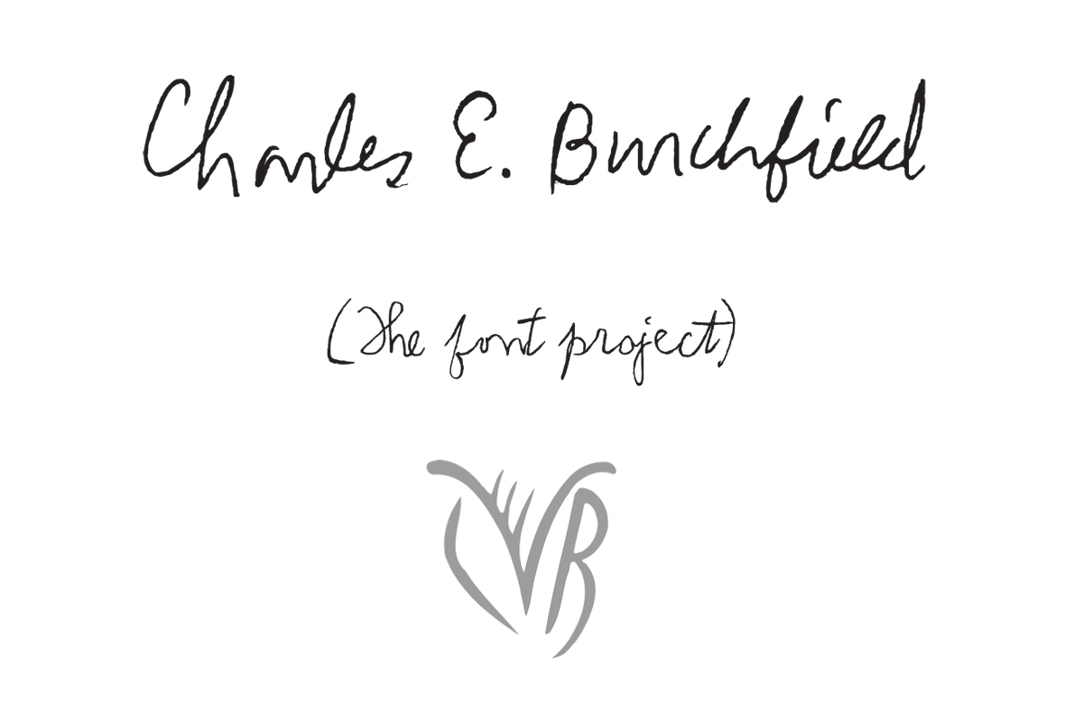 Charles Burchfield Handwriting Font On Behance