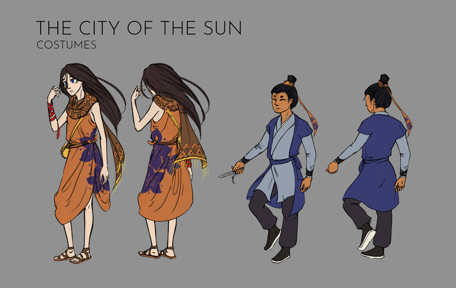 City of the Sun: Costumes
