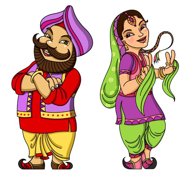 Happy Singh Da Dhaba Logo Mascot Design On Behance