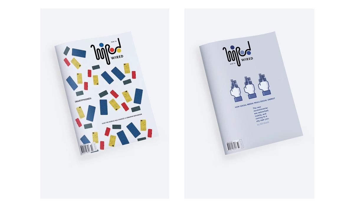 WIRED Magazine | Visual Identity Re-Design (Concept) on MICA Portfolios