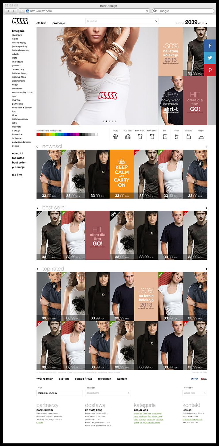 Web www koszulkowo Webdesign design