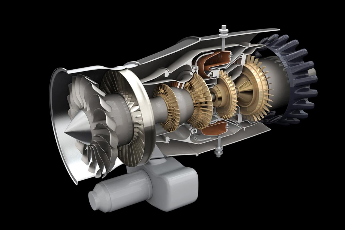 PW615 3D Schematic on Behance – Jet Engine Schematics