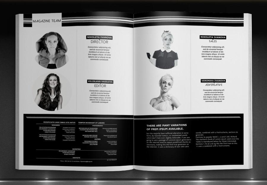 black & white magazine template on behance, Modern powerpoint