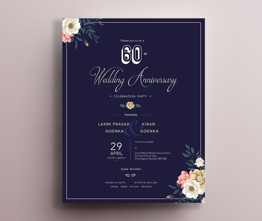 Wedding Anniversary : Invitation Card on Behance
