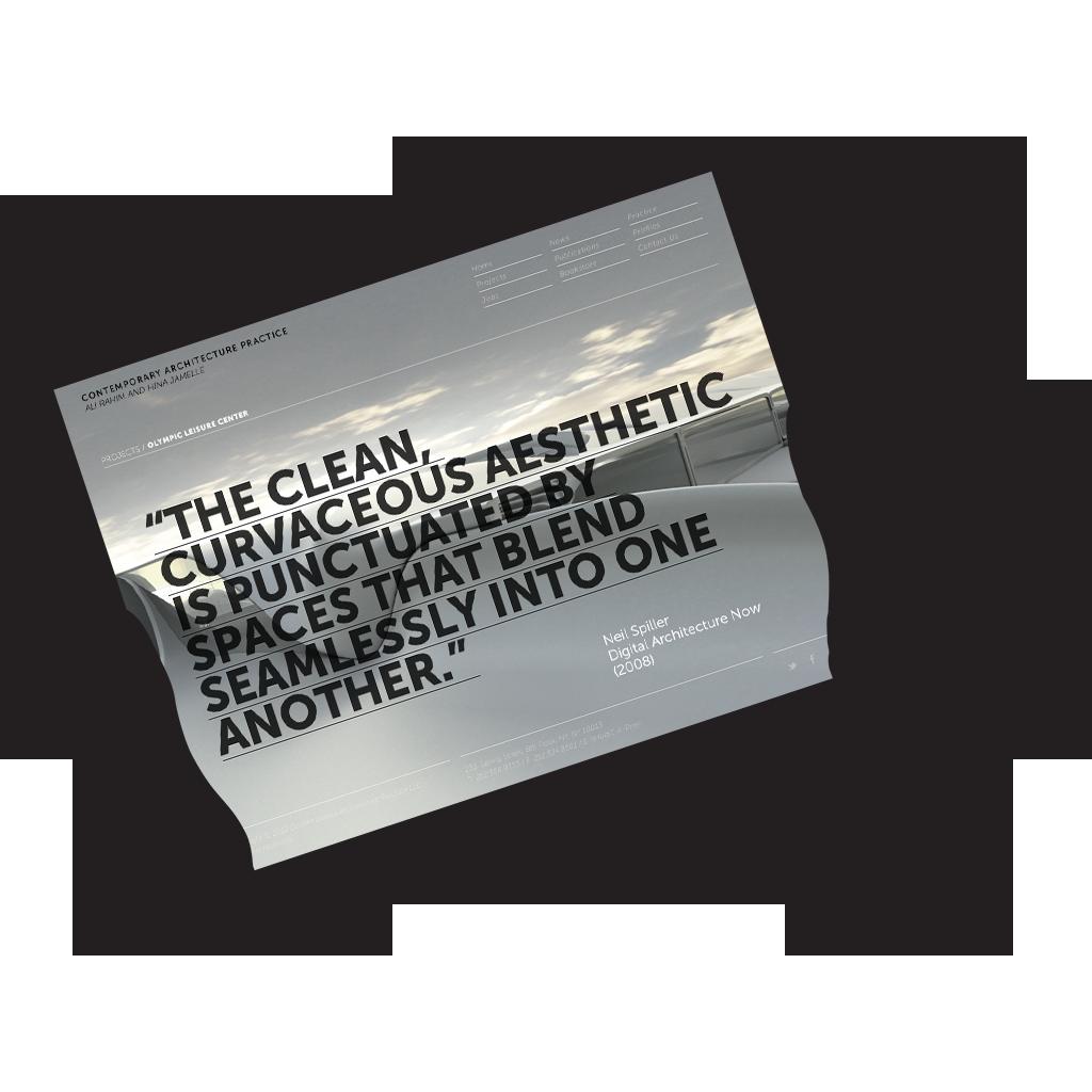 architecture user interface Website Design