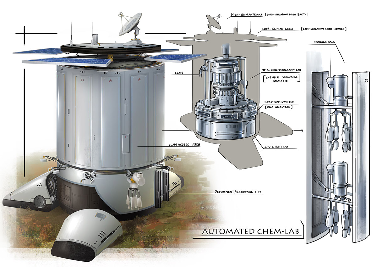 probe robot gunhouse cutaway