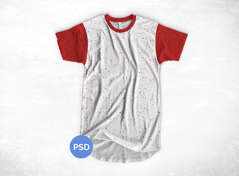 4a1d805a Free Longline T-Shirt Mockup on Behance