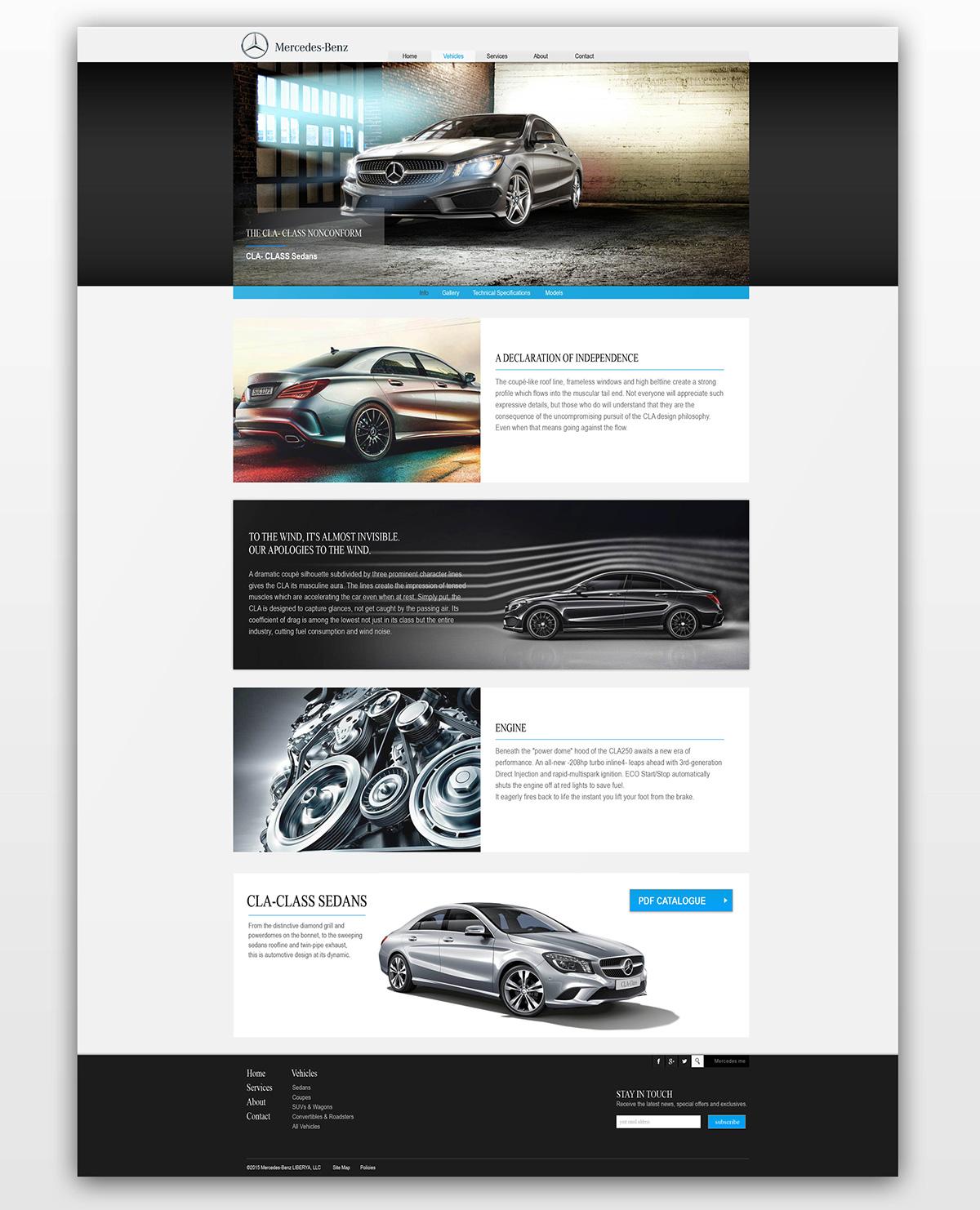 Mercedes-Benz Liberia Website on Behance