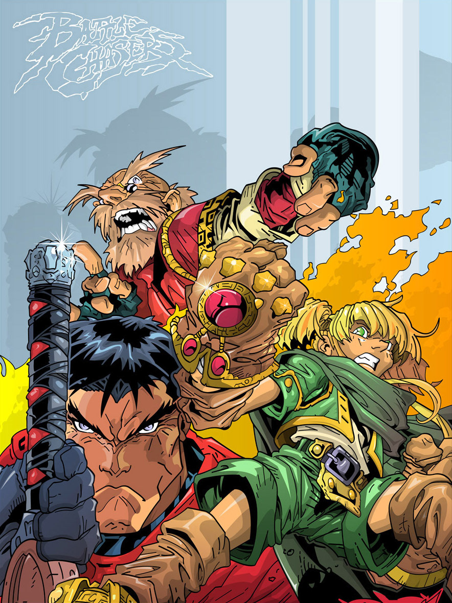 vector ILLUSTRATION  comic Graphic Novel spawn battle chasers colorful