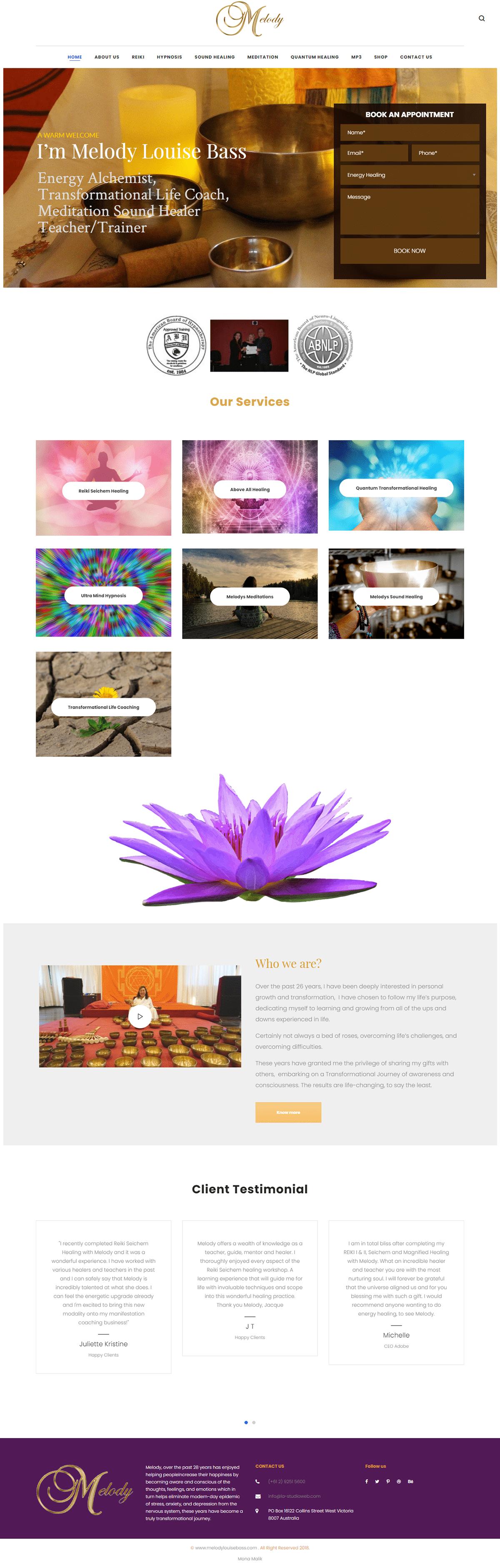 bootstrap4 creative css3 HTML JavaScript sounds healing Web Design