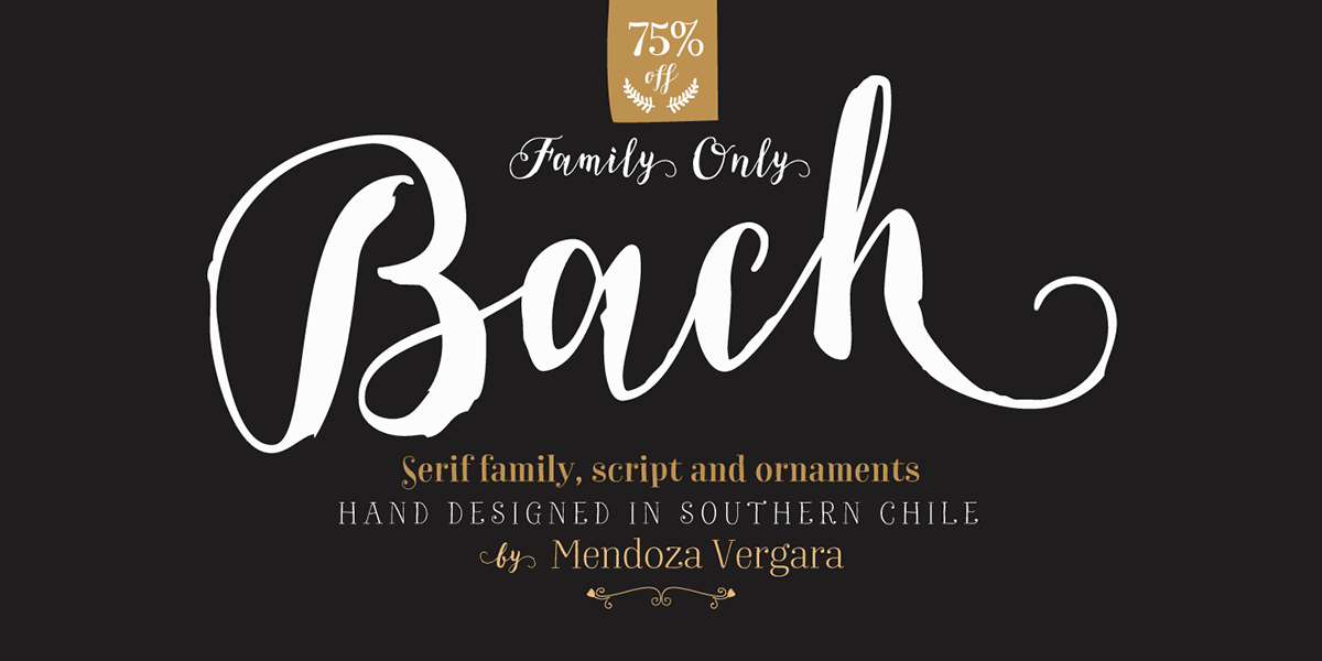Bach our new Font Family on Behance