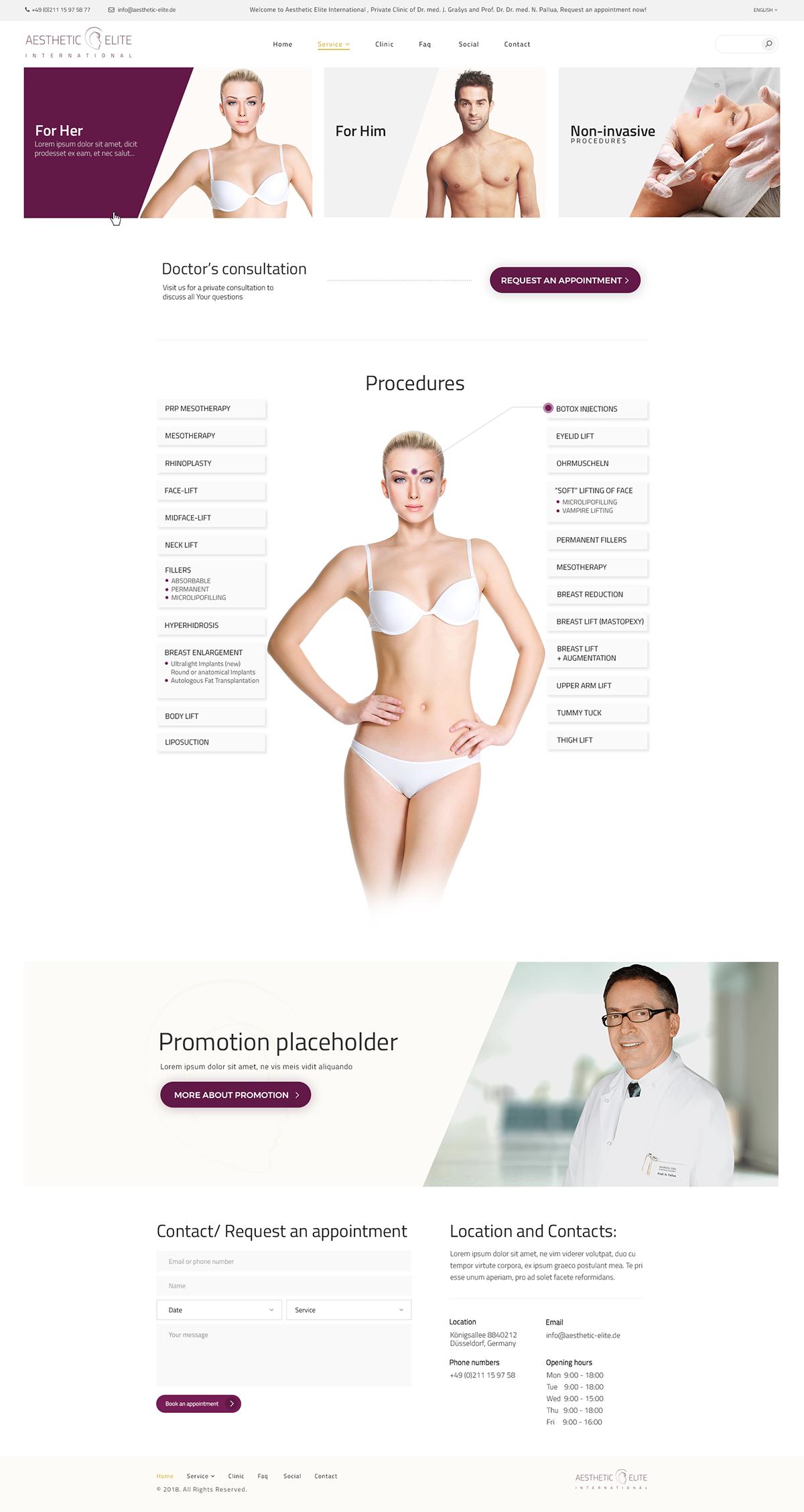 plactic surgery beauty body alius cechas procedures White doctor skin