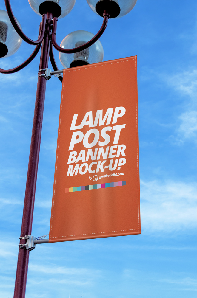 Free Psd Lamp Post Banner Mockup On Behance