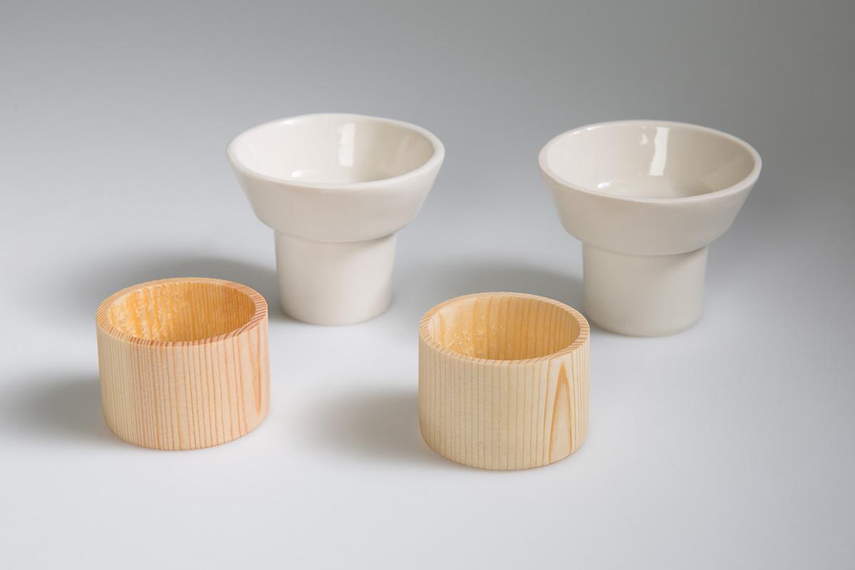 ceramics  3D product industrial design craft porcelain wood tea set teapot teacup handmade oriental minimal