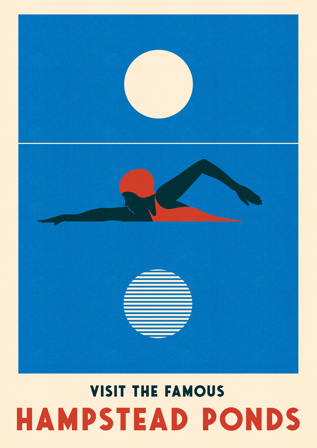 deco lido posters Retro swimming travel posters vintage