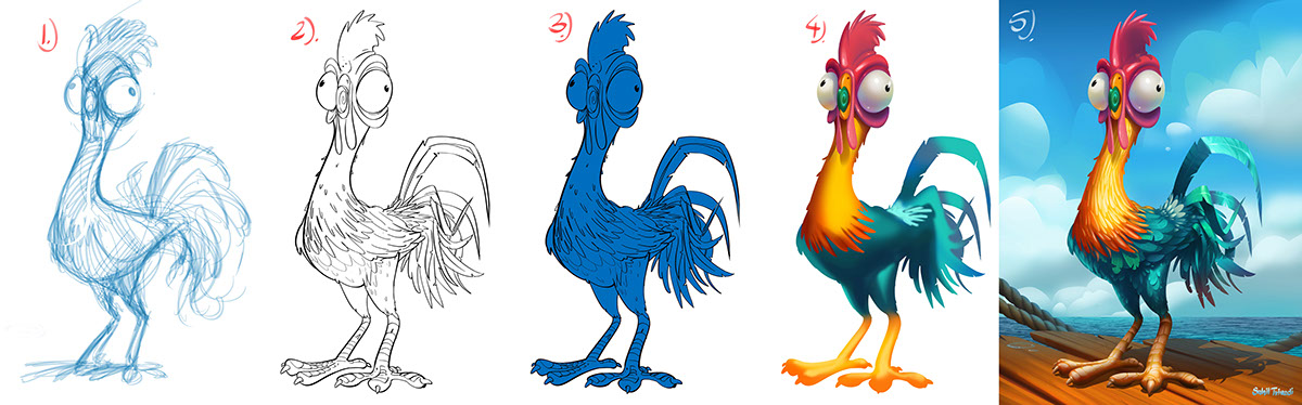 Hei Hei Chicken From Moana On Student Show