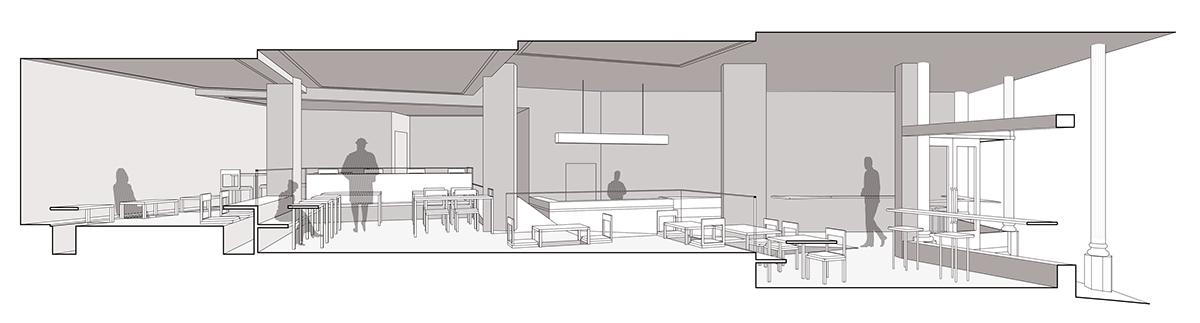 Flow: A Coffee and Tea House on RISD Portfolios on glass house cafe, muffin house cafe, coffee house cafe,