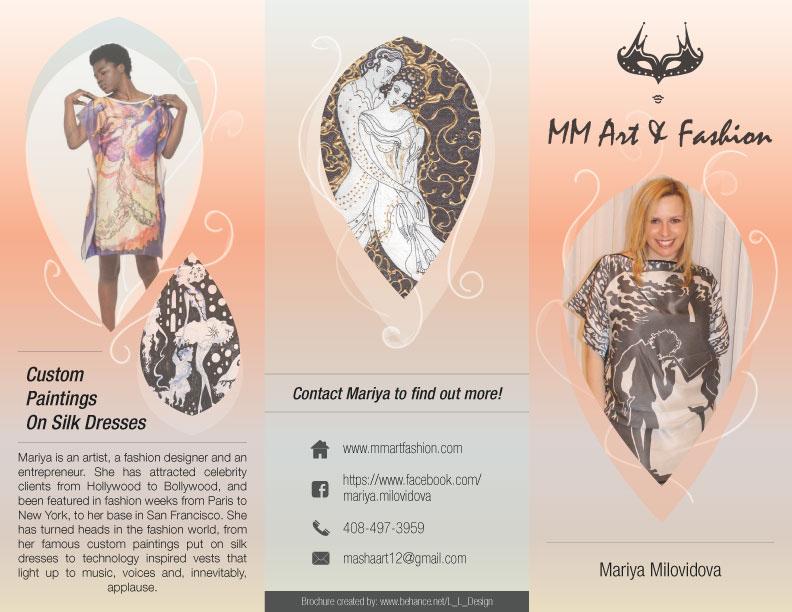 3 Fold Brochure Design For Russian Fashion Designer On Behance
