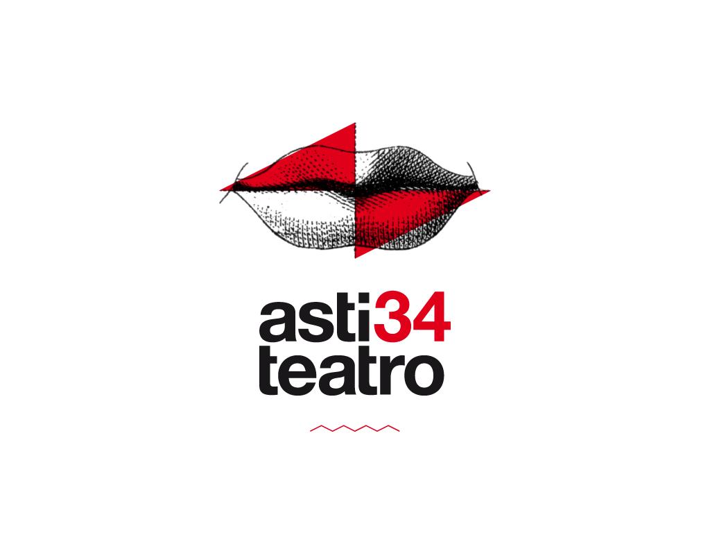 asti teatro astiteatro logo Theatre Mouth vintage illustration red helvetica minimal identity Italy flyer t-shirts pass
