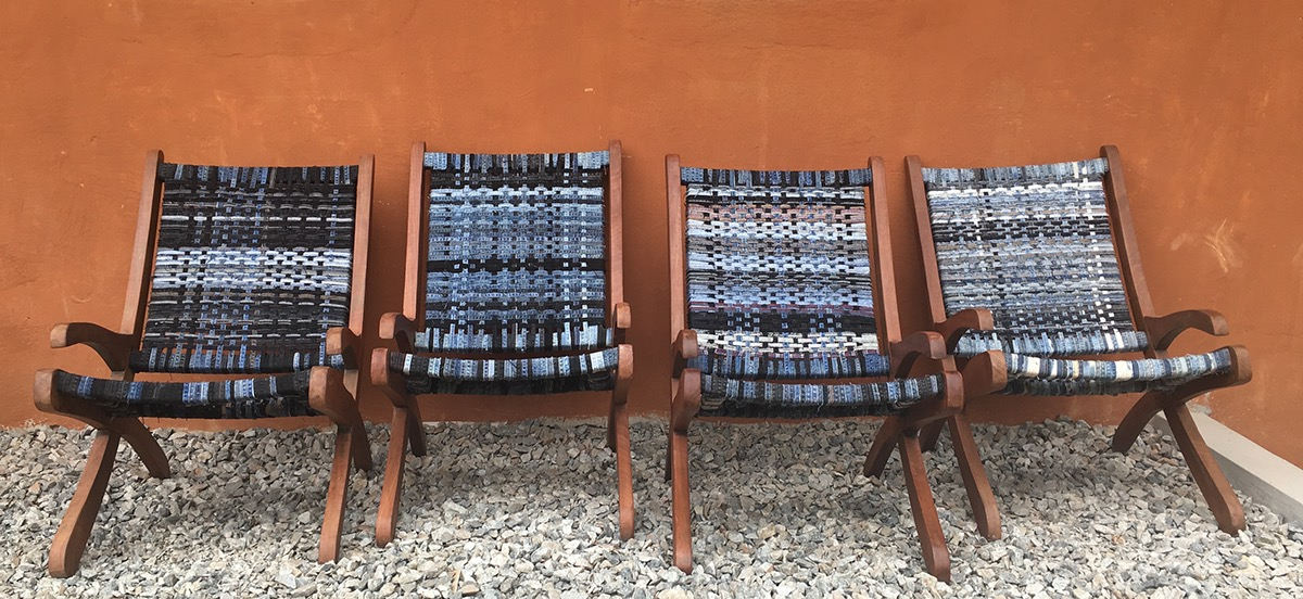WOVEN DENIM CHAIRS