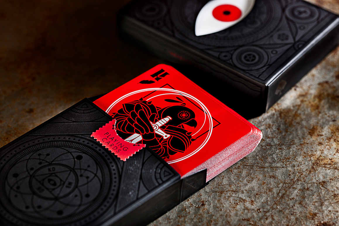 cards cardistry memento mori Scary eye decorative Satan evil