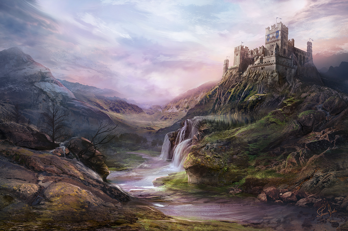 Fantasy Landscape Matte Painting On Student Show