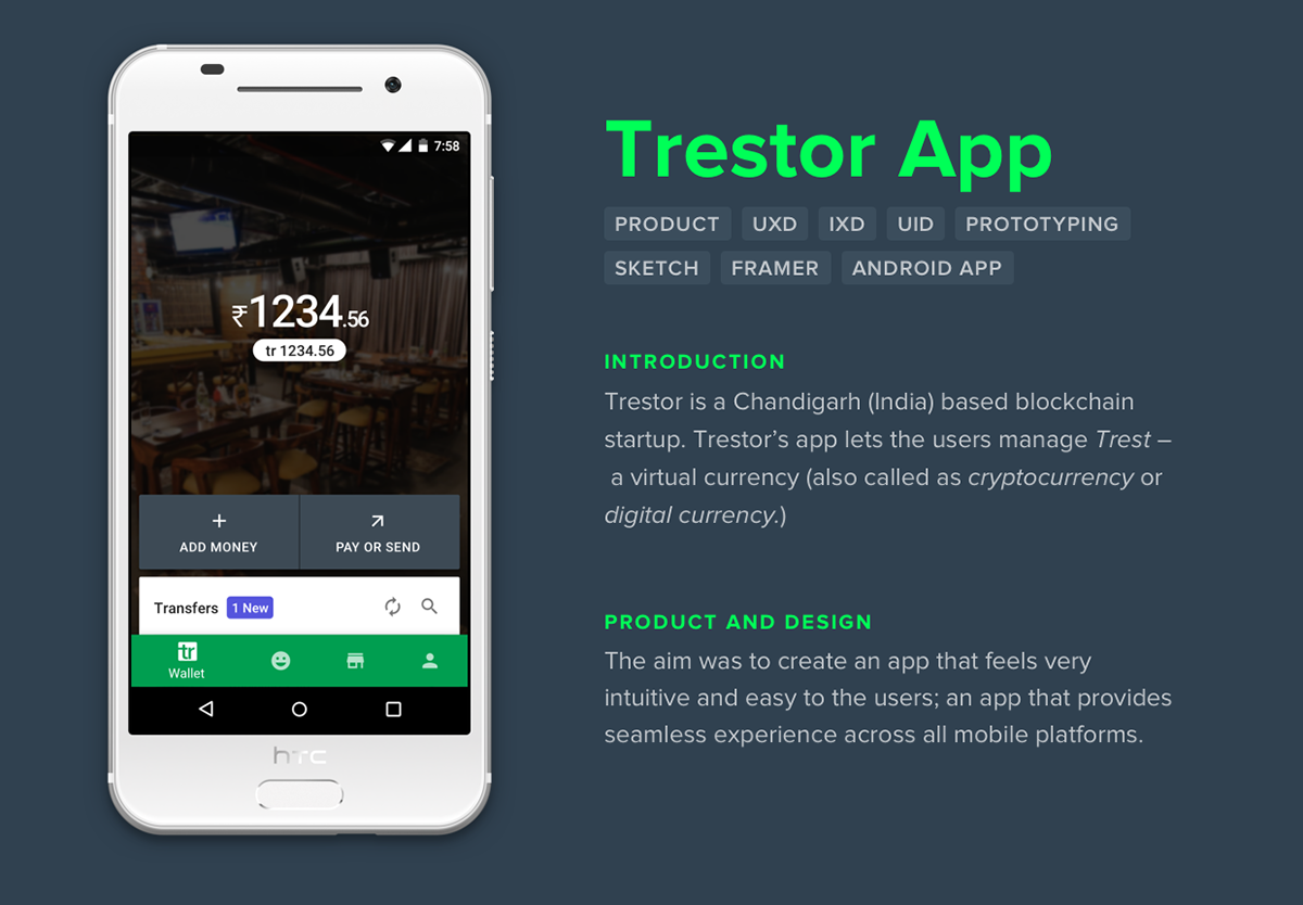 prototype framer Android App UI Mobile UI WALLET ux Chat material design