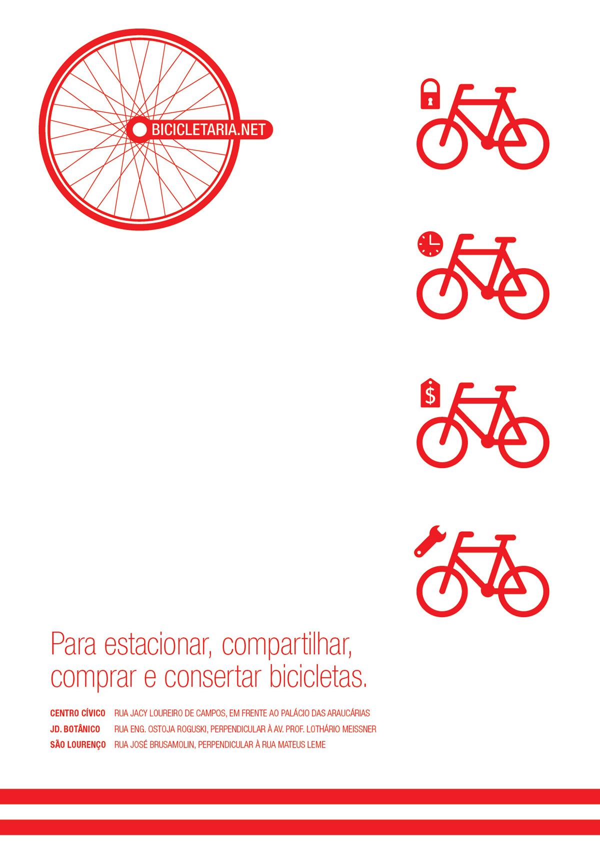 Bicycle Bike Curitiba public transport Icon signalization design signaletic mobile bike sharing