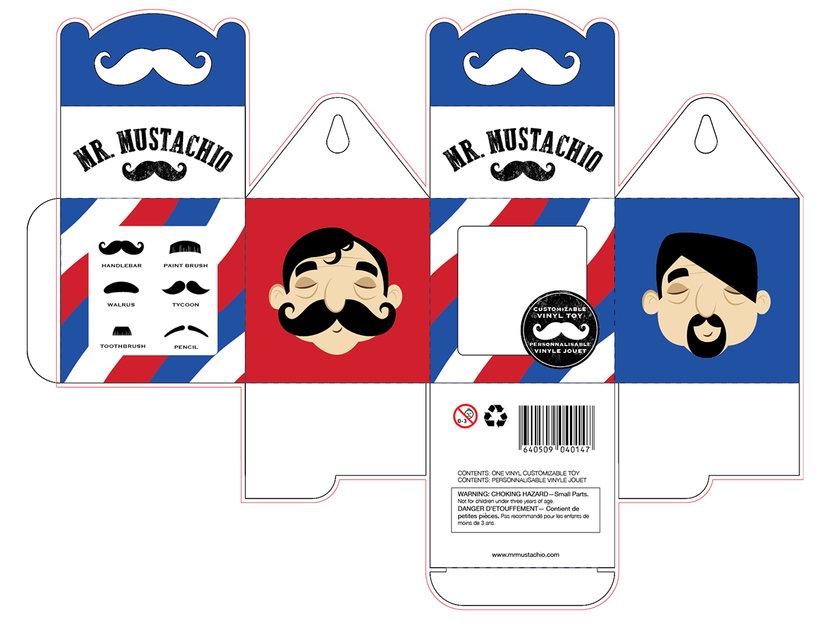 Character mustache cute toy