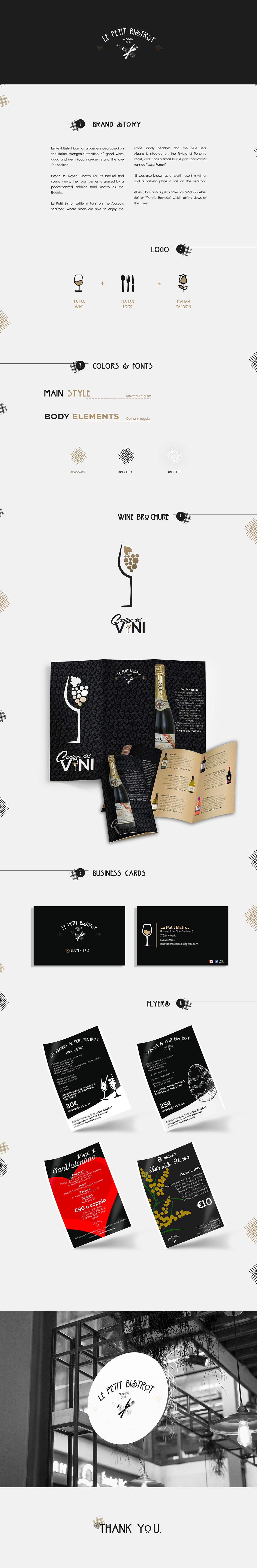 logo restaurant branding  Business Cards flyers italian restaurant restaurant design food and beverage brochure design menu restaurant