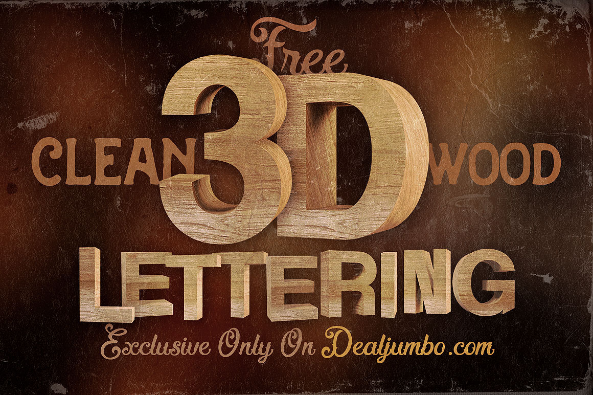 free 3d wooden lettering pack on behance