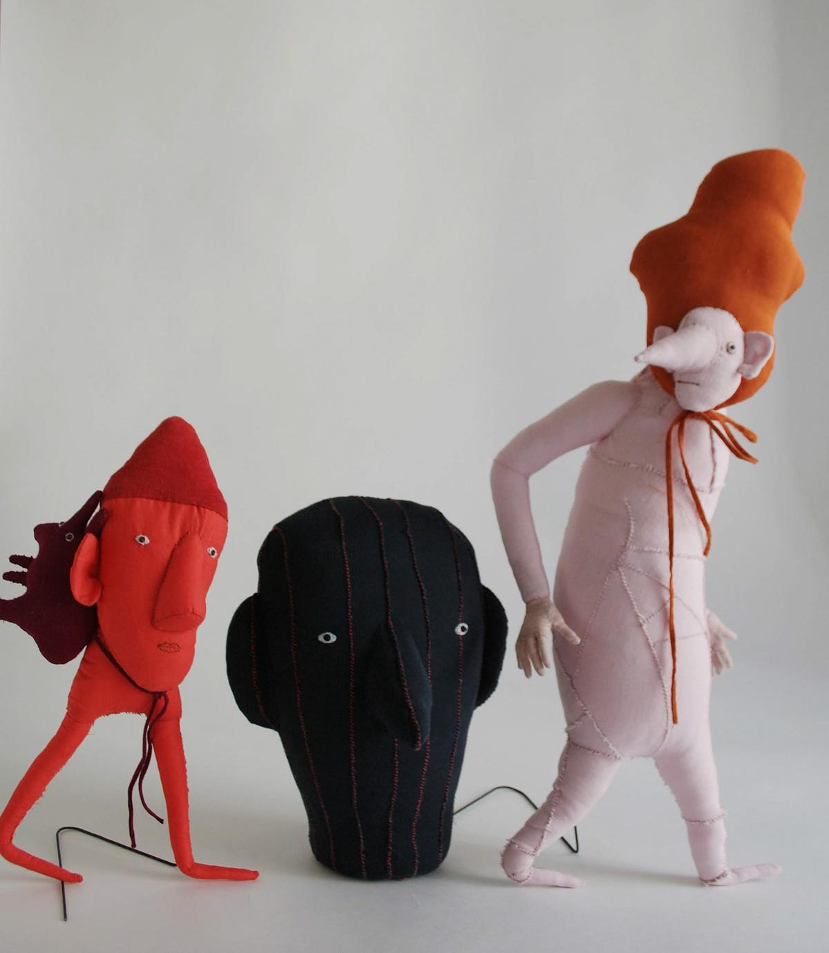 art Artdoll artdolls attoys cartoon Character design textile toy design  toys