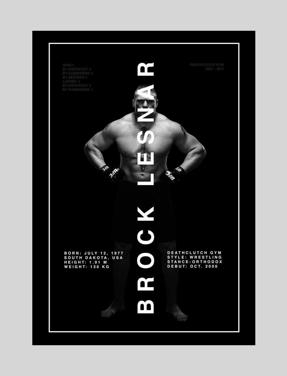 bkoz   design graphic posters UFC MMA