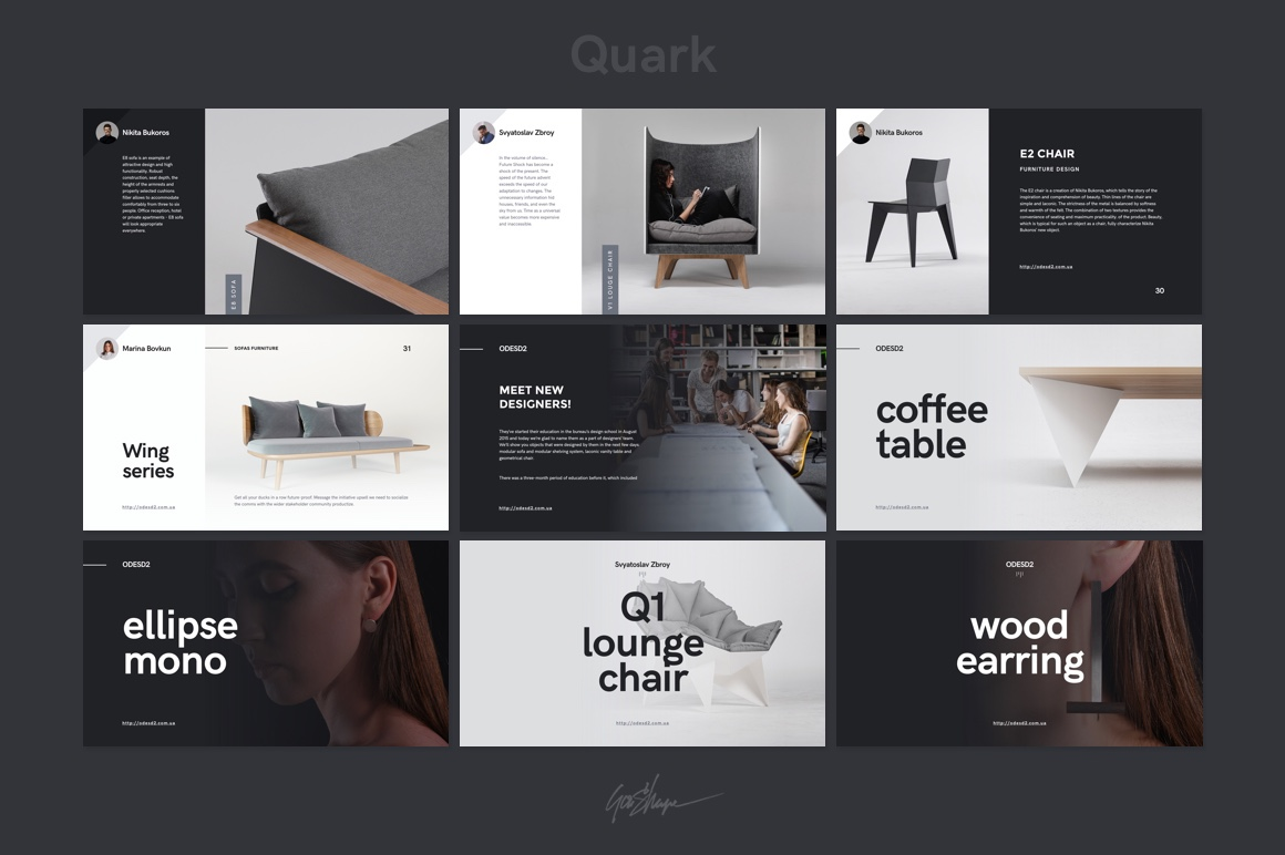quark keynote presentation template on behance, Presentation templates