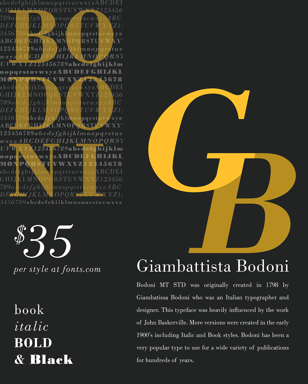 Bodoni MT Std Typography Poster On Behance
